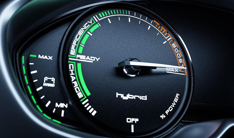 hybrid car dashboard